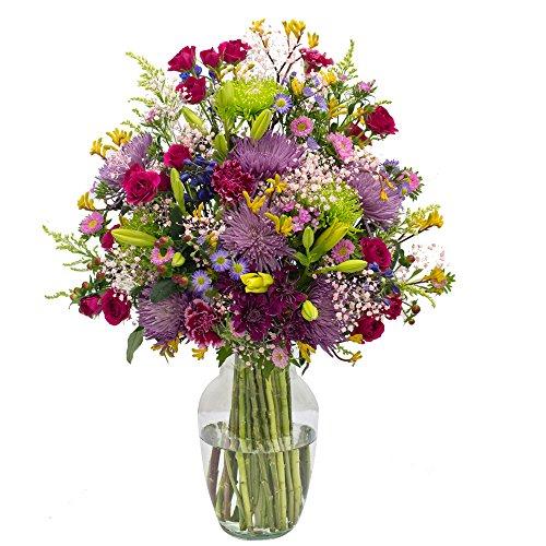 eFlowy Raining Color Vase Floral Arrangement Just Because by eFlowy