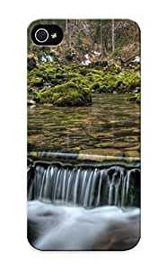 Graceyou Protection Case For Iphone ipod touch4 / Case Cover For Christmas Day Gift(small Forest Waterfall)