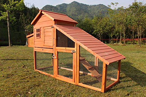 Chicken Poultry Coop Hen House Rabbit Hutch Cage-Xlarge 6...