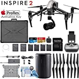 DJI INSPIRE 2 Quadcopter Drone with Zenmuse X5S 3-Axis Gimbal/Camera - Apple ProRes License Key - Starters Bundle