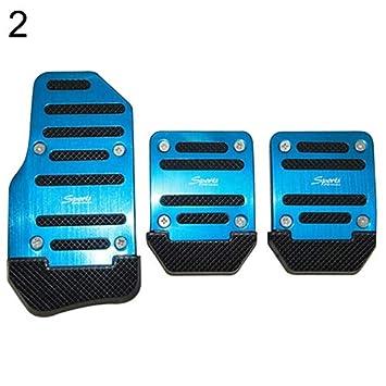 Blue lyhhai Car Non-slip Pedal Manual Car Brake Clutch Accelerator Alloy Antiskid Foot Treadle