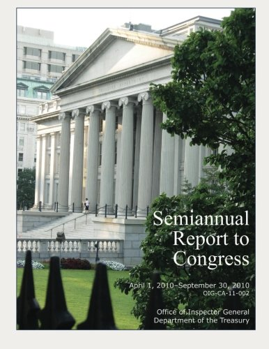 Download Semiannual Report to Congress April 1, 2010-September 30, 2010 pdf epub