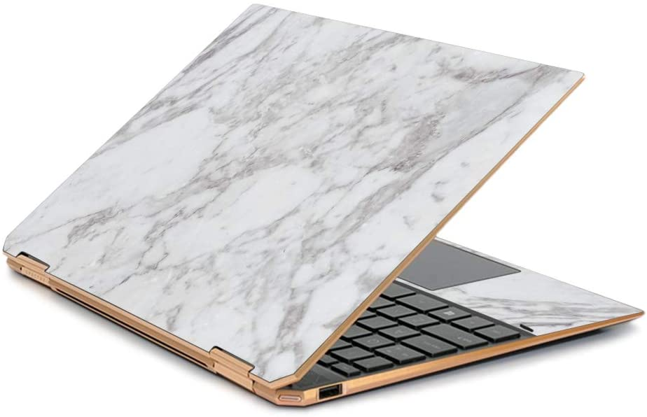 "MightySkins Skin Compatible with HP Spectre x360 13.3"" Gem-Cut (2019) - Frost Marble 