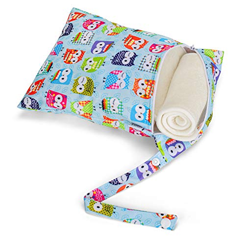 Luxja Cloth Diaper Inserts (4 Pcs Cloth Diaper Liners + 1 Storage Bag), 5 Layers of Bamboo Inserts