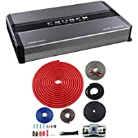Crunch Power Drive 2100W Mono Class A/B Car Audio Amplifier + 4 Gauge Wiring Kit