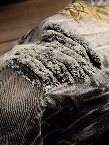 Di 88 Bobo Stretch Comodi Uomo Della Colour Attillati Casual Jeans Strappati Pantaloni Vintage Especial Estilo Da Tuta 188TAqx