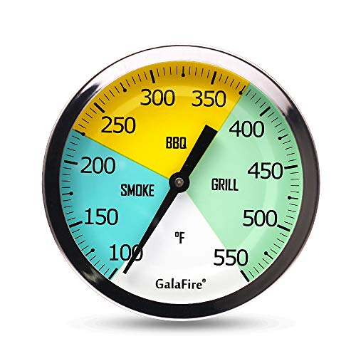 GALAFIRE BBQ Grill Thermometer Gauge, Large Face, 3 3/16 inch