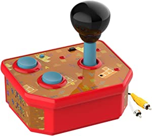 DOYO Handheld Games Console, Plug and Play Video TV Games Console Classic Mini Arcade Joystick Built-in 180 Games for Kids, Children Birthday (AV Cable) (Red)