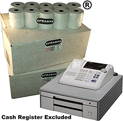 eposbits® marca 80 rollos – 4 cajas para Casio grande Draw 130 CR 130 CR caja registradora: Amazon.es: Oficina y papelería