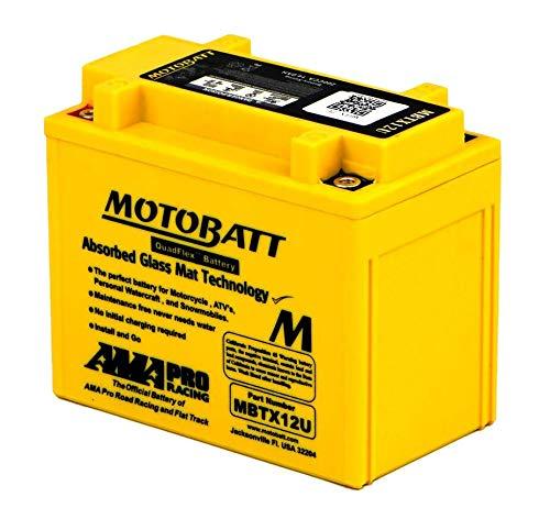MBTX12U MOTOBATT Quadflex AGM Bike Battery 12V 14Ah