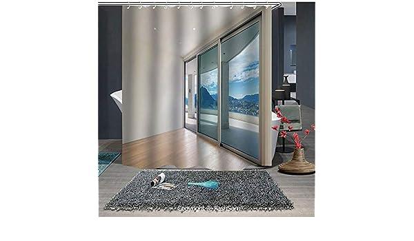 FashSam - Cortina de Ducha con diseño de Pentagrama con Amplia terraza para Puerta corredera, parquet, montañas, Accesorios de baño idílico (65 x 72 Pulgadas): Amazon.es: Hogar
