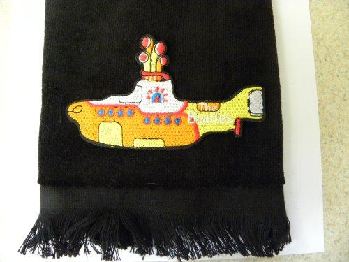 ath hand towel submarine vintage applique ()