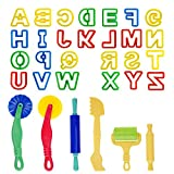 Kare and Kind Smart Dough Tools set of 32pcs with Dough tools and Capital Letters (Alphabet) – Assorted color (Capital letters)