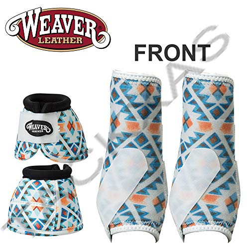 Weaver MED PRODIGY Horse Front Neoprene Athletic Sports Bell Boots Winter Aztec