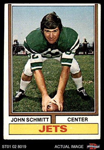 John Schmitt New York Jets (1974 Topps # 363 John Schmitt New York Jets (Football Card) Dean's Cards 3 - VG Jets)