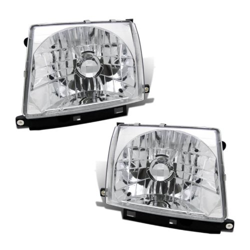 SPPC Headlights Chrome Assembly Set For Toyota Tacoma - (Pair) Driver Left and Passenger Right Side Replacement (99 Toyota Tacoma Headlights)
