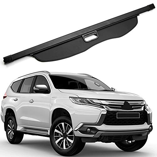 HIGH FLYING Rear Trunk Cargo Cover Luggage Security Shade for Mitsubishi Pajero Sport, Montero Sport, Shogun Sport 2016 2017 2018