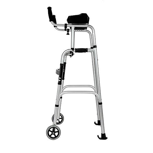 LXS Andador de Aluminio Rollator Walker - Ajustable 2 Ruedas ...