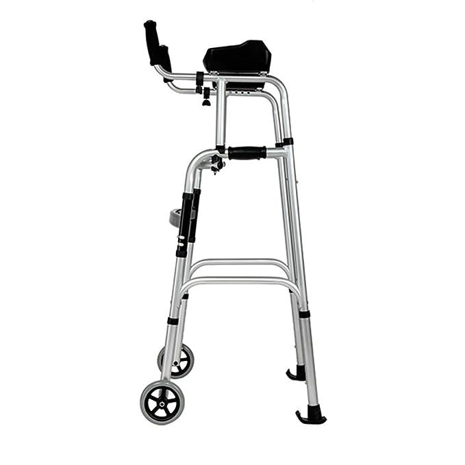 Snow Yang Andador para Ancianos Aluminio,2 Ruedas y empuñadura de ...