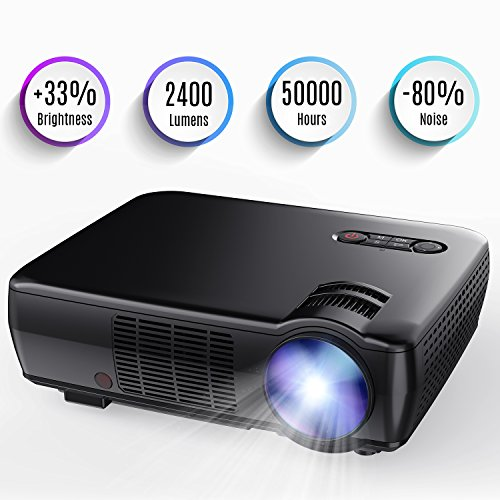 Tenker Projector, 65ANSI (2018 customized for home theater&Video Games) Portable Video Projector with 5.0
