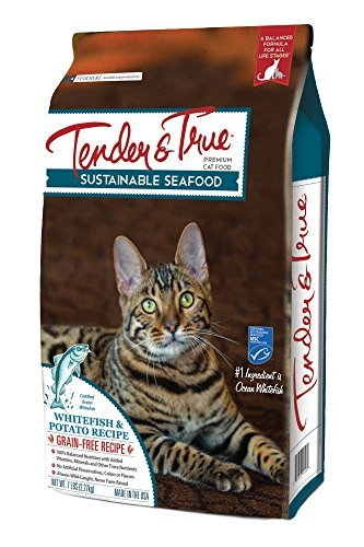 Image of Tender & True 854038 Sustainable Seafood Ocean Whitefish & Potato Recipe 3 Lb Bag Dry Cat Food, One Size