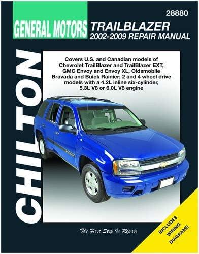 Amazon Com Chilton 28880 Repair Manual Compatible With Chevy Trailblazer Gmc Envoy Oldsmobile Bravada 2002 2009 Automotive