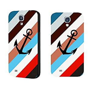 Anchor Samsung Galaxy S4 I9500 Phone Case Stripes Nautical Design Case Cover for Girls Vintage