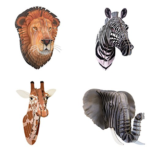Cardboard Safari Recycled Cardboard Animal Taxidermy Multi...