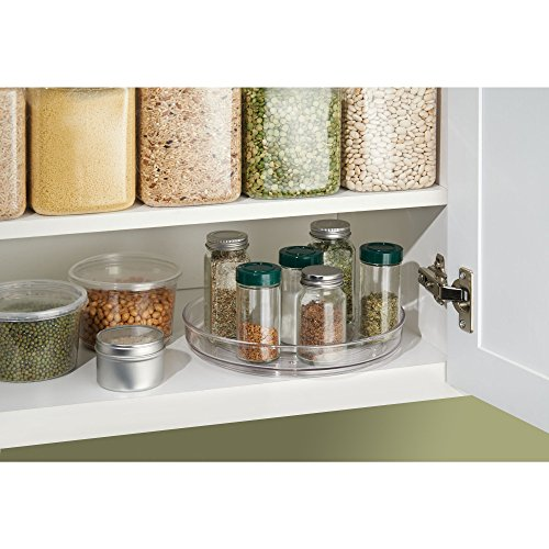 InterDesign Linus Lazy Susan Cabinet Turntable - Organizer Tray for Kitchen Pantry or Countertops - 9