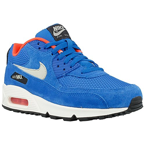 Nike air max 90 Essential Mens Running Trainers 537384 Sneakers Shoes (UK 6.5 US 7.5 EU 40.5, Dark Electric Blue Light Anthracite 407)
