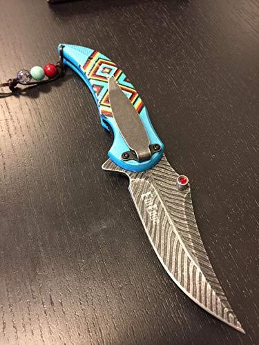 Amazon.com: ElitEdge - Cuchillo indio táctico de muelles ...