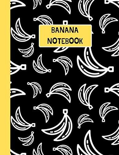 Banana Notebook: Black & White Pattern -