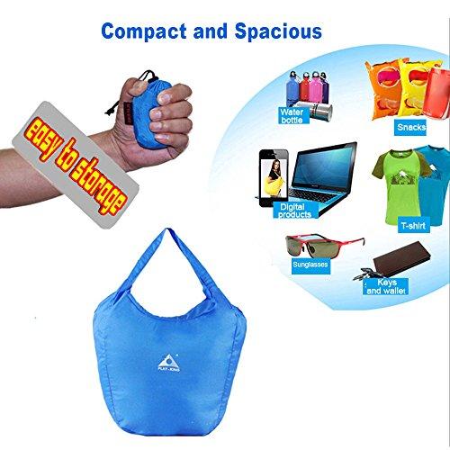 Lixada Handtasche Packable Einkaufstasche Travel Tote Bag Pack Outdoor Sport Camping Wandern. Black hQ1hpNoCQq