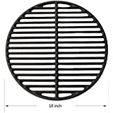"""Dracarys 18"""" Cast Iron Sear Grate Grids Round Cooking Grate Big Green Egg Replacement Accessories for Large Big Green Egg,Kamado Joe Classic Vision Grill VGKSS-CC2,B-11N1A1-Y2A Any 18"""" Grill"""