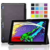 IVSO Lenovo Tab 2 A10-70 Smart Case – Ultra-Slim and Ultra-light PU Leather Folio Case Stand Cover for Lenovo Tab 2 A10-70 Tablet - with Magnetic (Black)