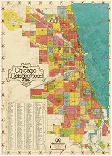 photo about Printable Map of Chicago named Chicago Area Map: Huge Adhere Inc.: 9781929687008