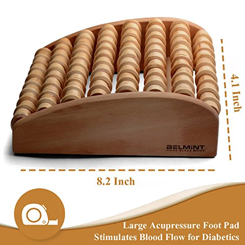 Bamb 252 Si Bamboo Deep Tissue Massage Foot Roller Stick For