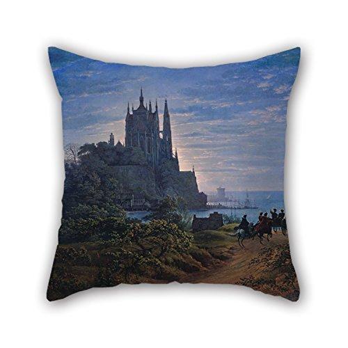 Oil Painting Karl Friedrich Schinkel - Gotische Kirche Auf Einem Felsen Am Meer Throw Cushion Covers 18 X 18 Inches / 45 By 45 Cm Best Choice For Family,divan,relatives,son,festival