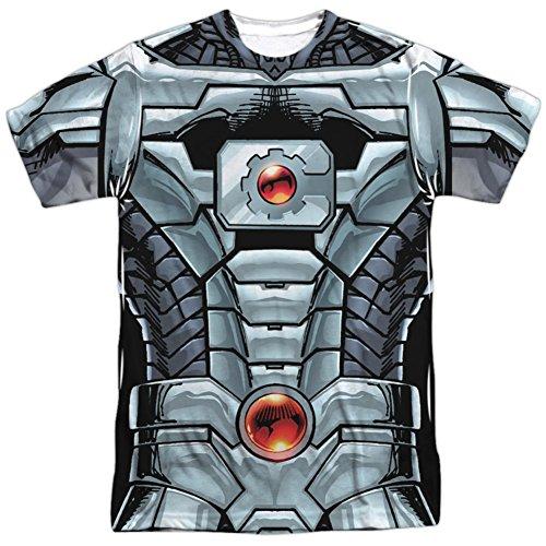 Cyborg Costume Ideas (Cyborg- New 52 Costume Tee T-Shirt Size S)