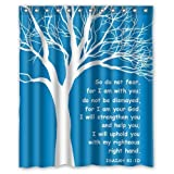 Personalized Christian Theme Isaiah Quote for Shower Curtain Bath Curtain 60'' x 72''