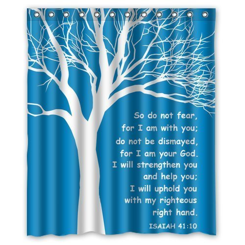 Personalized Christian Theme Isaiah Quote for Shower Curtain Bath Curtain 60'' x 72'' by Personalized Shower Curtain