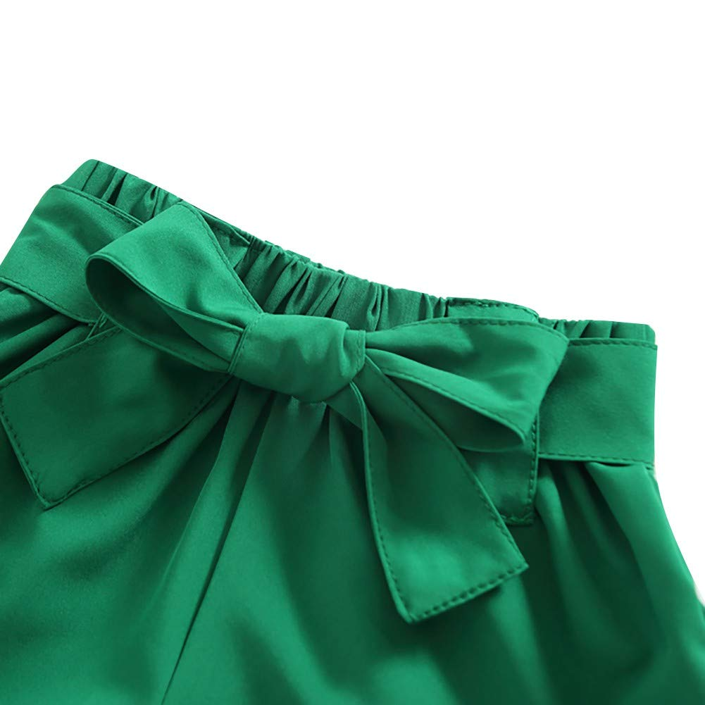 EEFRVDFFDE Baby Suit Summer Letter Print Short Sleeve T-Shirt+Bow Shorts Suits 2Pcs//Set