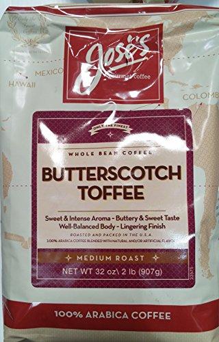 Butterscotch Toffee - Jose's Butterscotch Toffee Medium Roast 100% Arabica Coffee 32oz Bag