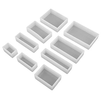 B Baosity 9pcs Molde de Silicona Rectangular AlImentario para Hacer Joyas, Candelabros, Jabones, Chocolate: Amazon.es: Hogar