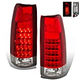parts for 90 chevy silverado - SPPC Red/Clear LED Tail Lights Assembly Set for Chevrolet Full Size - (Pair) includes Driver Left and Passenger Right Side Replacement