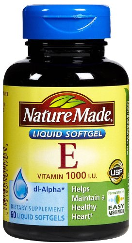 Nature Made Vitamin E -- 1000 IU - 60 Liquid Softgels