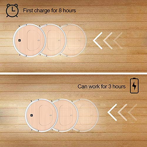 FENGRUI FR-6S Robot Vacuum Cleaner and Mop Powerful Suction Remote Control HEPA Filter for Pets Dog Hair Hardwood Floor Surfaces Home Gold by FENGRUI (Image #7)