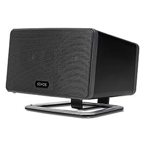 flexson flxp3ds1021 desk stand for sonos play 3 speaker single black home audio. Black Bedroom Furniture Sets. Home Design Ideas