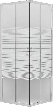 vidaXL Mampara de Ducha con Vidrio de Seguridad Baño Fregadero Fontanería Bricolaje Instalación Decoración Grifería Sanitario Bañera 70x70x185 cm: Amazon.es: Hogar
