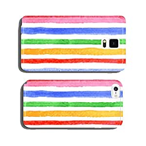 Watercolor striped pattern. Vector cell phone cover case Samsung S6